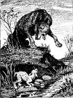 Ovechka i volk Овечка и волк (украинская сказка)