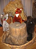 Волк лиса и медведь