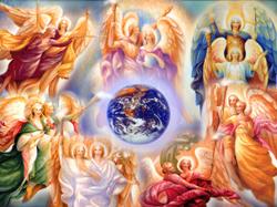 Ангелы на небе